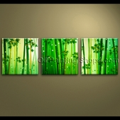 extra large wall art oil painting canvas bamboo feng shui artworks hand painted