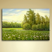 Landscape Painting Oil Canvas Wall Art Gallery Wrapped Home Decor