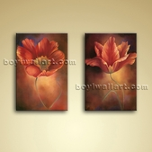 Large Framed Abstract Floral Giclee Oils on Canvas Wall Art for Living Room