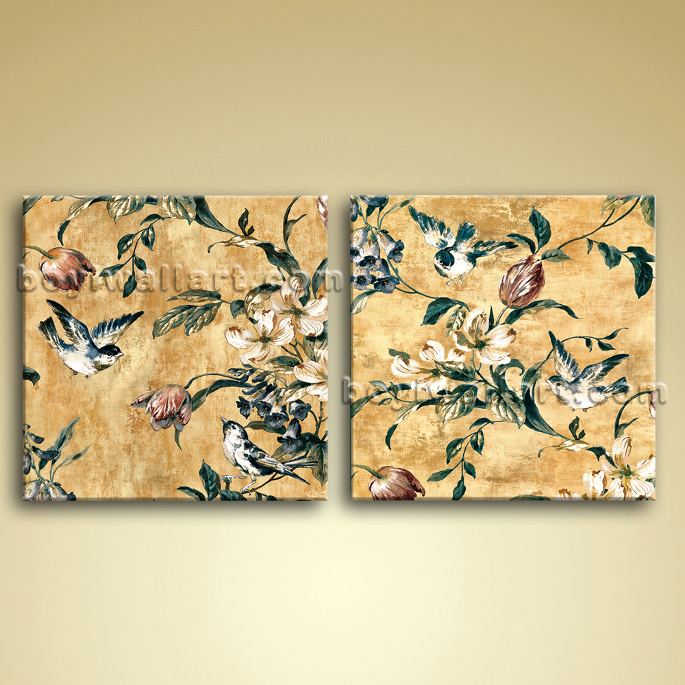 Magnificent Canvas Floral Wall Art Embellishment - The Wall Art ...