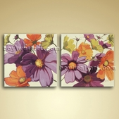 Large Oil Canvas Modern Abstract Floral Painting Bedroom Wall Art Picture