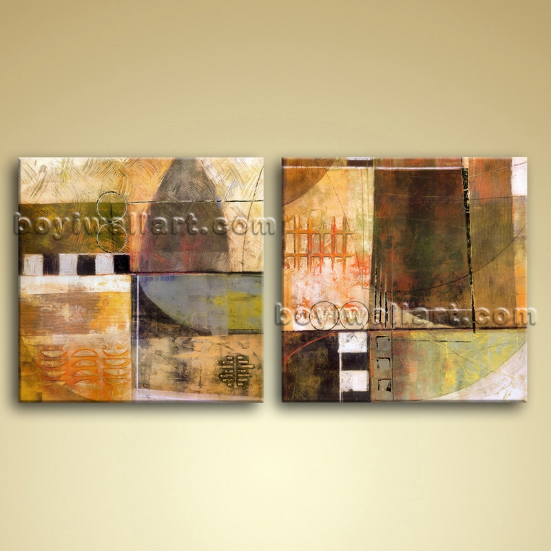 Oil Canvas Wall Art Modern Abstract Painting Picture Bathroom Decor
