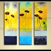 Large Modern Abstract Floral Painting