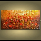 Large Original Fine Art Impressionist Abstract Floral Oil Painting On Canvas