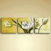 Large Wall Art Set Picture Oil Contemporary Abstract Floral Painting Flower