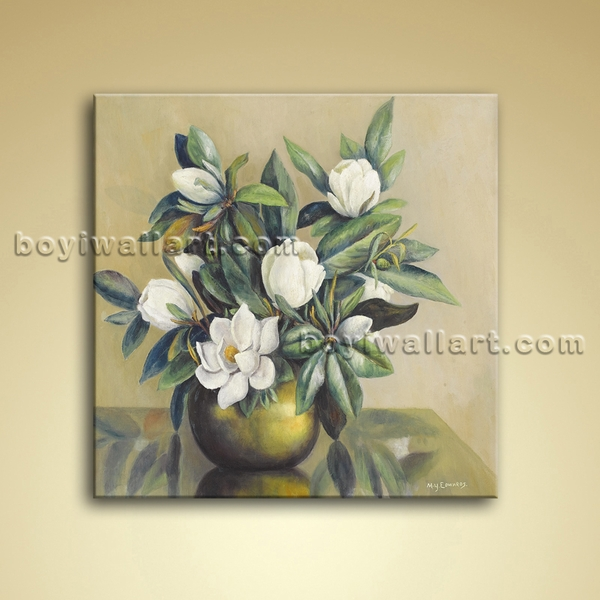 Modern Abstract Floral Painting Bouquet Flower Oil On Canvas Wall Art