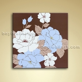 Modern Abstract Flower Painting Oil On Canvas Wall Art Bathroom Decor