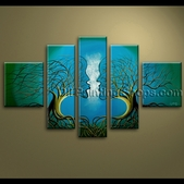 original oil painting unique abstract floral tree love contemporary extra large