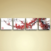 Oversized Wall Art Huge Picture Modern Abstract Floral Blossom Tree On Canvas