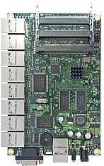 MIKROTIK RB/493 ROUTERBOARD, 9 LAN / 3 MINI-PCI 300MHZ 64MB L4