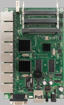 MIKROTIK RB/493G ROUTERBOARD, 9 GLAN / 3 MINI-PCI 680MHZ 256MB L5