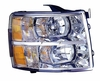 Chevy Silverado 07-11 (1500 Hybrid 09-11)  Headlight Assembly RH USA Passenger Side