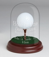 Glass Dome with Tee Hole-In-One Trophy