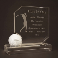 Ladies Crystal Hole In One Award