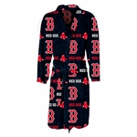 Boston Red Sox Highlight Mens Microfleece Robe in Navy