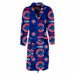 Chicago Cubs Highlight Mens Microfleece Robe in Royal