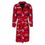 St. Louis Cardinals Highlight Mens Microfleece Robe in Red