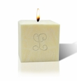 "3"" CITRUS ESCAPE PALM WAX CANDLE : INITIAL"