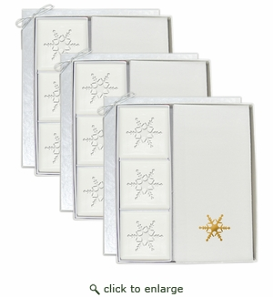 3 SIGNATURE SPA COURTESY GIFT SETS : GOLD SNOWFLAKE GIFT SET