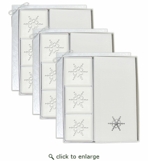 3 SIGNATURE SPA COURTESY GIFT SETS : SILVER SNOWFLAKE GIFT SET