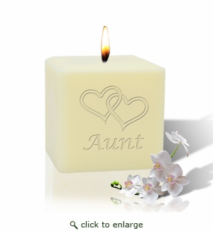 "3"" SOY BLEND CANDLE : HEARTS FOR AUNT"