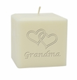 "3"" SOY BLEND CANDLE : HEARTS FOR GRANDMA"