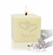 "3"" SOY BLEND CANDLE :HEARTS FOR MOM"