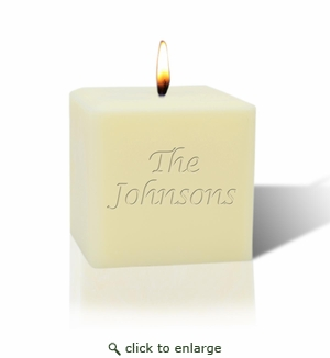 "3"" SOY BLEND CANDLE : NAME OR PHRASE"