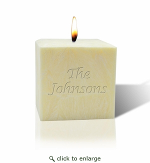 """3"""" UNSCENTED PALM WAX CANDLE : NAME OR PHRASE"""