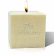 "4"" AROMATHERAPY PALM WAX CANDLE : NAME OR PHRASE"