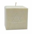 "4"" PURE AROMATHERAPY PALM WAX CANDLE : STAR OF DAVID"