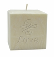 "4"" PALM WAX CANDLE : LOVE KNOT"