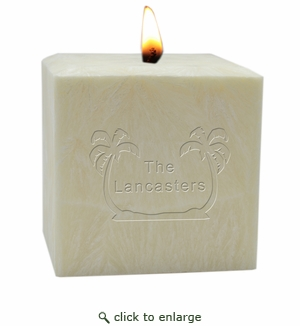 "4"" PALM WAX CANDLE : PERSONALIZED PALM TREES"