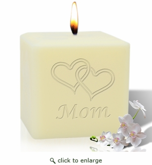 "4"" SOY BLEND CANDLE :HEARTS FOR MOM"