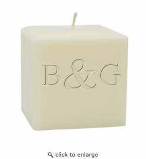 """4"""" SOY BLEND CANDLE : INITIAL & INITIAL"""