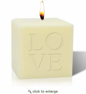 """4"""" SOY BLEND CANDLE : LOVE"""