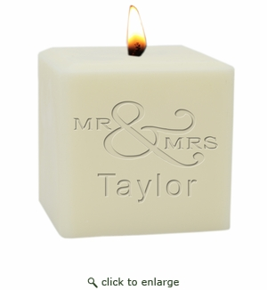 """4"""" SOY BLEND CANDLE : MR & MRS"""
