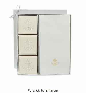 COURTESY GIFT SET : GOLD ANCHOR