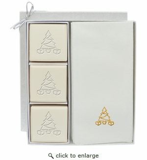 COURTESY GIFT SET : GOLD CHRISTMAS TREE