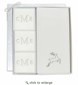 COURTESY GIFT SET : MONOGRAM and SILVER DEER