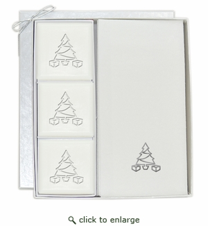COURTESY GIFT SET : SILVER CHRISTMAS TREE