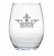 CROWN WINE STEMLESS TUMBLER - SET OF 4 (GLASS)