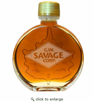 CUSTOM LOGO Certified Organic Vermont Maple Syrup Medallion Glass (100ml) Case of 24