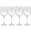 DAYS OF CHRISTMAS 1-4 STEMWARE - SET OF 4 (GLASS)