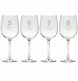 DAYS OF CHRISTMAS 5-8 STEMWARE - SET OF 4 (GLASS)