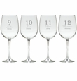 DAYS OF CHRISTMAS 9-12 STEMWARE - SET OF 4 (GLASS)