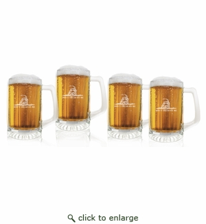 Don't Tread on Me Set of 4  Sport Mugs 15 oz