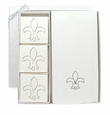 ECO LUXURY & SIGNATURE SPA: COURTESY GIFT SET : FLEUR DE LIS ICON IN SILVER