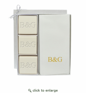 ECO LUXURY & SIGNATURE SPA: COURTESY GIFT SET : INITIAL & INITIAL IN GOLD