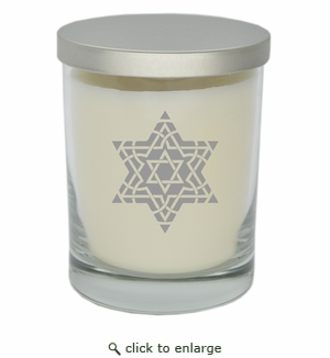 ECO-LUXURY SOY CANDLE: FANCY STAR OF DAVID